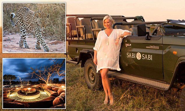 Denise van Outen encounters leopards in Africa as she ditches Dubai