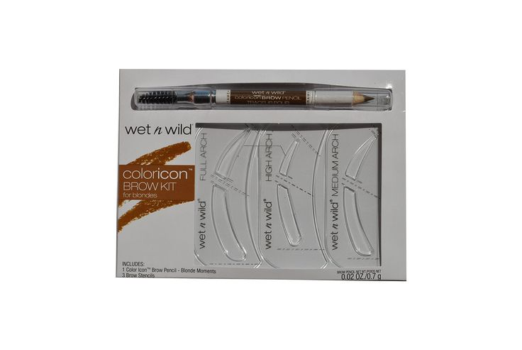 Wet N Wild Coloricon Brow Kit for Blondes. 3 Brow stencils. 1 Color Icon Brow Pencil - Blonde Moments 0.02 oz / 0.7 g. Limited Edition.