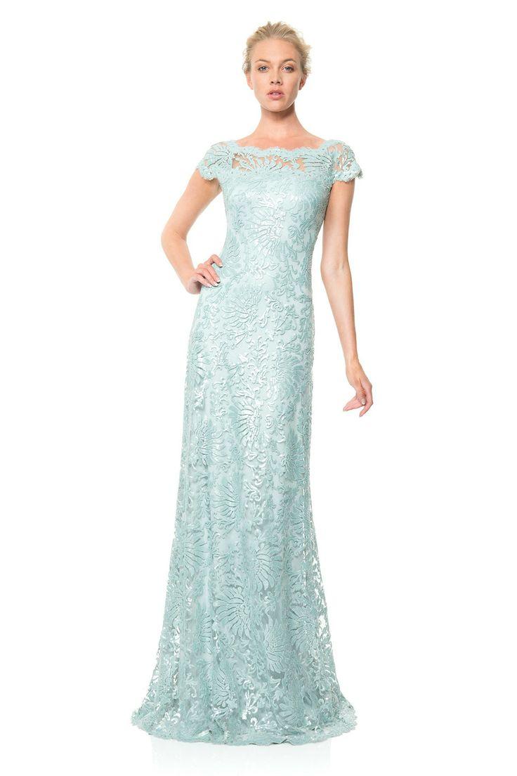 17 best images about tadashi shoji on pinterest lace for Tadashi shoji wedding dresses