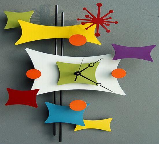 Dogbone clock Steve Cambronne ~ Love all the fun colors