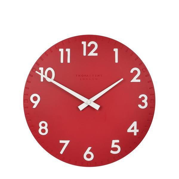 Thomas Kent Camden Red Wall Clock 30cm – Beaumonde ®