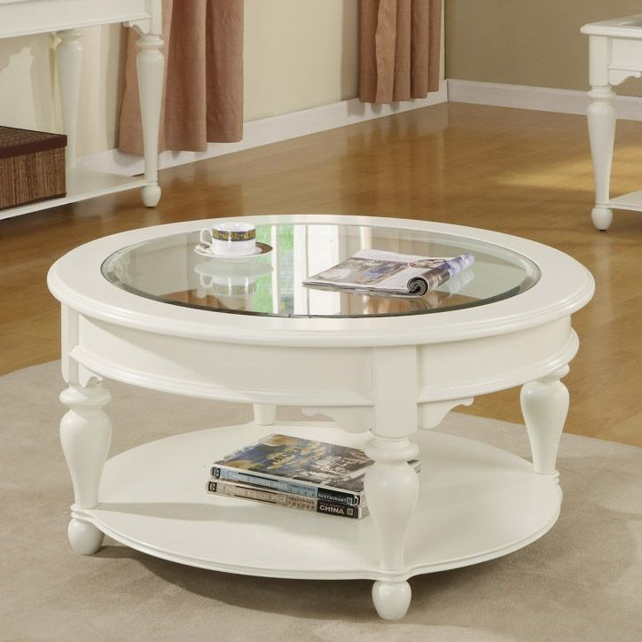 Riverside Furniture Essex Point Round Coffee Table In Shores White