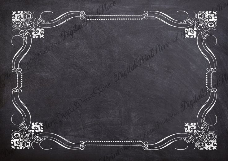 Victorian Border Chalkboard Frame 003 Clip Art Retro Ornate Decoration Commercial Use by DigitalPrintStore on Etsy