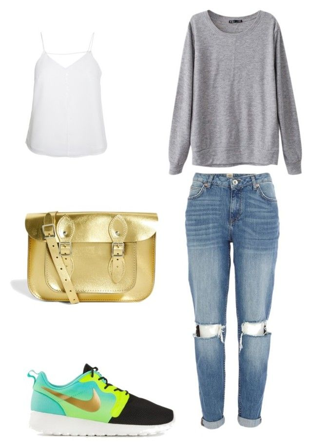 ? by dianatairum on Polyvore featuring Chicnova Fashion, Finders Keepers, River Island, NIKE and The Leather Satchel Co.