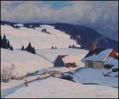 Clarence Alphonse Gagnon from Auction House Records. Environs de Baie-Saint-Paul Artwork images are copyright of the artist or assignee