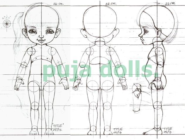 "BJD THAI ""PUJA DOLLS"": BJD workshop, Model:Kids. size 26 cm."