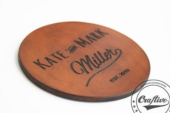 Gifts for the Couple Wedding Gifts Names & Date by CraftiveLeather