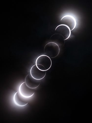 Time lapse photography of eclipse
