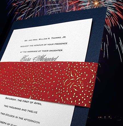 4th of july inspired invitations cards wedding invitations 1