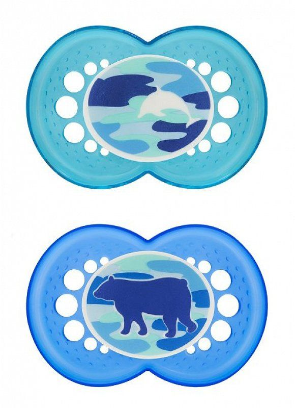 """MAM """"CAMOUFLAGE"""" 2x Dummy Pacifier Soother"""