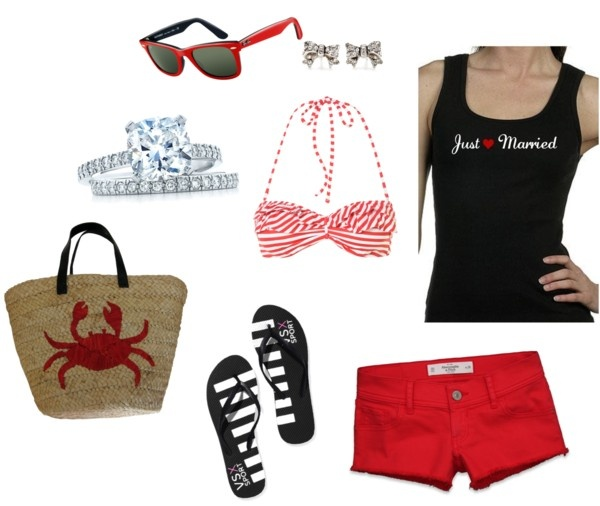 """""""Just Married - Beach Honeymoon"""" by thenewmrs on Polyvore"""
