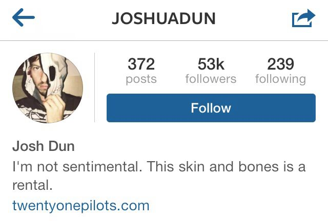 Spotted some of my favorite Switchfoot lyrics in Joshua Dun s  of Twenty  One Pilots  Instagram bio    switchfoot   Pinterest   Twenty one pilots. Spotted some of my favorite Switchfoot lyrics in Joshua Dun s  of