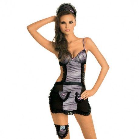 Disfraz de camarera Malva. Y sírvele una doble ración de placer.  Cómpralo aquí: http://www.losplaceresdeadanyeva.com/es/celebraciones/6240-disfraz-de-camarera-malva-5907626512144.html