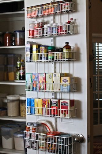 Delightful From The Container Store · Elfa Door Organizer For The Pantry!