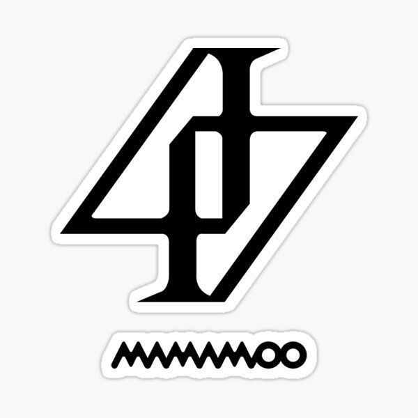 Mamamoo Logo Stiker Fotografi Hitam Putih Kpop