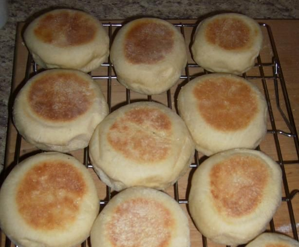 Bread machine English Muffins - I make these frequently, and they are as good or better as store-bought (complete with nooks and crannies!)