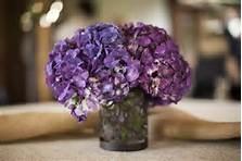 purple hydrangea centerpiece - Bing Images