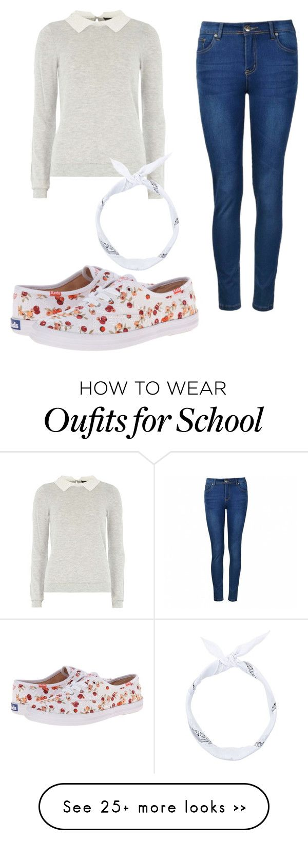"""School Pictures"" by faunafire on Polyvore featuring Dorothy Perkins, Ally Fashion and Keds"