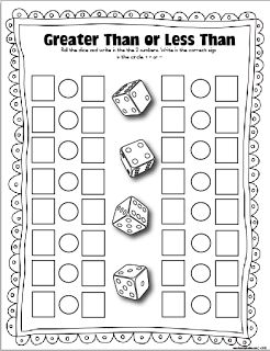 Dice Games (Laminate and use foam dice.) Early Finishers Activity:  Fact…
