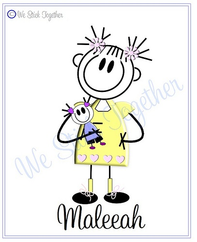 Baby Maleeah All hand drawn by Jacqui  Find us on facebook https://www.facebook.com/westicktogetherstickers?ref=ts=ts