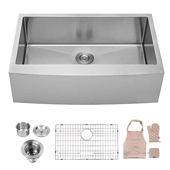 Elkay Farmhouse Apron Front Fireclay 33 In Double Bowl Kitchen Sink In Biscuit With Aqua Divide Swuf3320bi In 2020 Farmhouse Sink Kitchen Single Bowl Kitchen Sink Kitchen Design