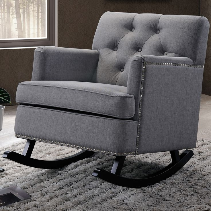 fabric rocking chairs living room furniture interiors baxton studio rocking chair sons 24664