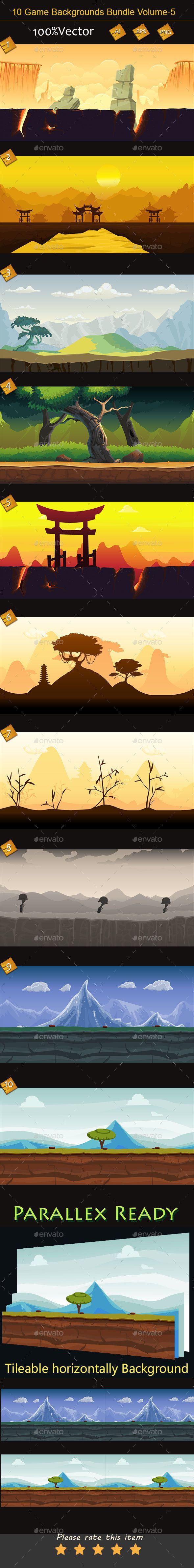 10 Game Backgrounds Bundle Volume 5 (Backgrounds)