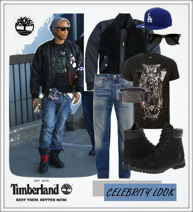 Pharrell Williams in new Timberland boots :-)