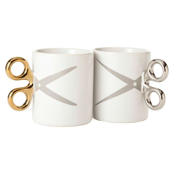 Scissors Mugs Set Of 2 [ummmmm...YES.]