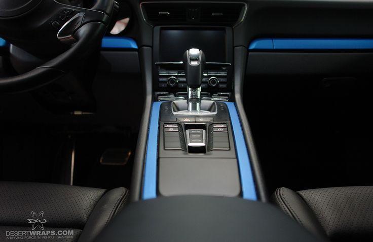 DesertWraps.com custom porsche interior style. #blue #porsche #interior #style