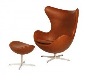 """Arne Jacobsen """"Egg"""" Chair w/ Ottoman for Fritz Hansen"""