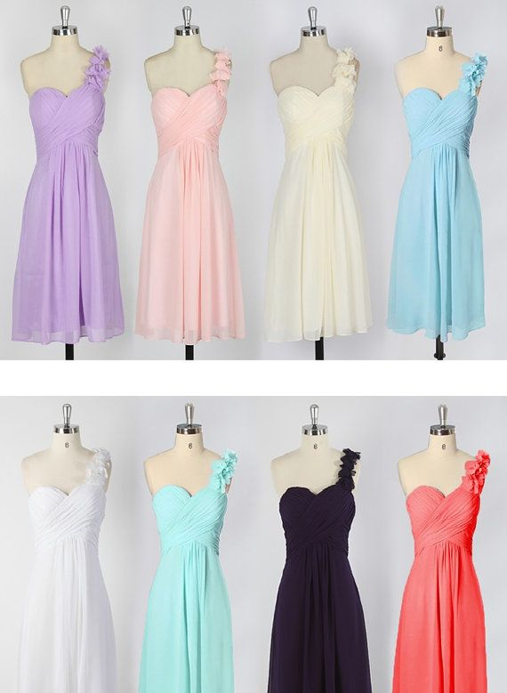 Bridesmaid Dress, Chiffon Dress, Sweetheart Short Dress, Pink Evening Dress, Mint, Pink, Purple, Black on Etsy, £50.85