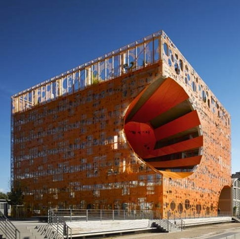 orange steel mesh