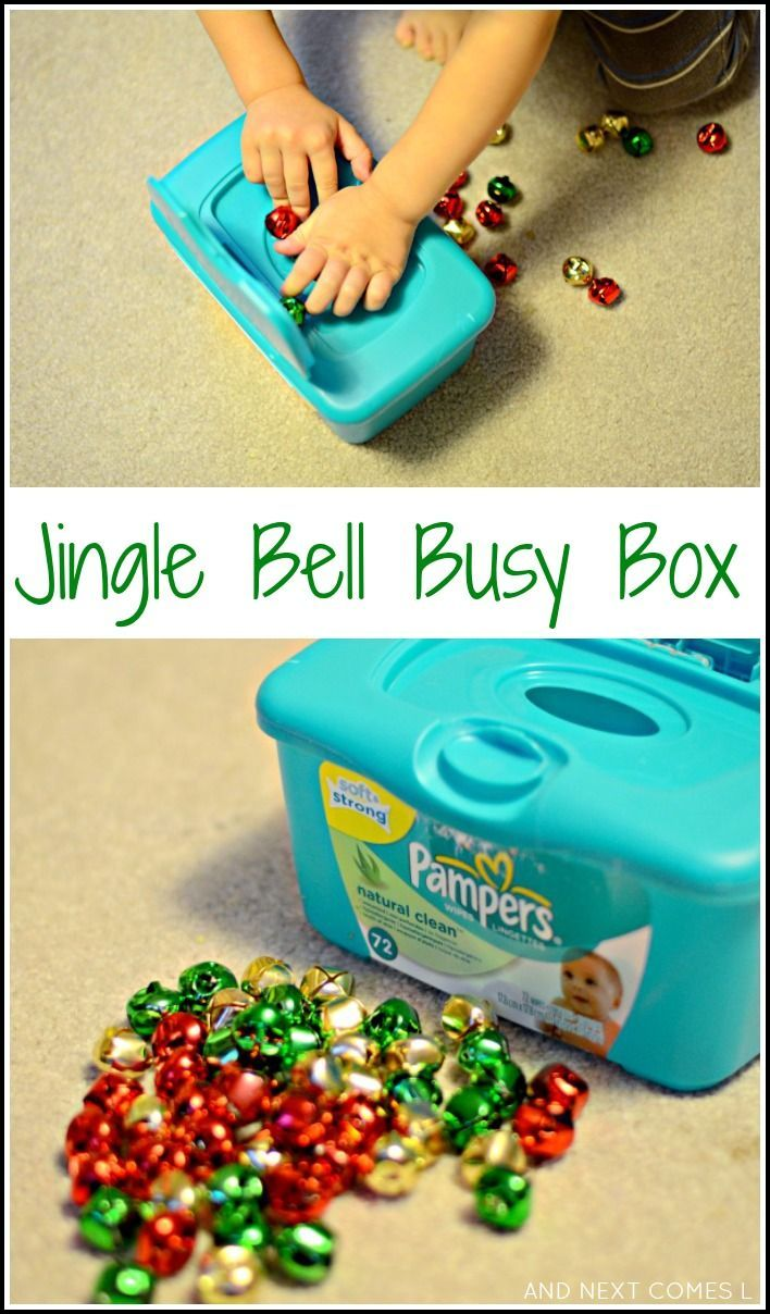 Jingle bell busy box: Christmas fine motor play from And Next Comes L