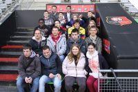 12/03/14. RENNES. Les élèves de l'IME L'espoir de Rennes en visite au stade de la route de Lorient. LIRE http://www.staderennais.com/index.php?rb=22&id=BR7393