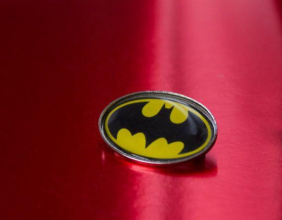 Cool Retro Batman Oval Pin Back Badge by UnofficiallyOriginal