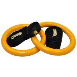 Gymnastic Rings – Premium Heavy Duty Crossfit, Gymnastics, Fitness, Exercise Rings – Gymnastics Training, Equipment- Exercise, Fitness, Bands, Straps, Rings – Home Gym Equipment – #1 Strength & Core Training Equipment- Easy to Set Up, Use, & Adjust – 60 Day Risk Free Guarantee