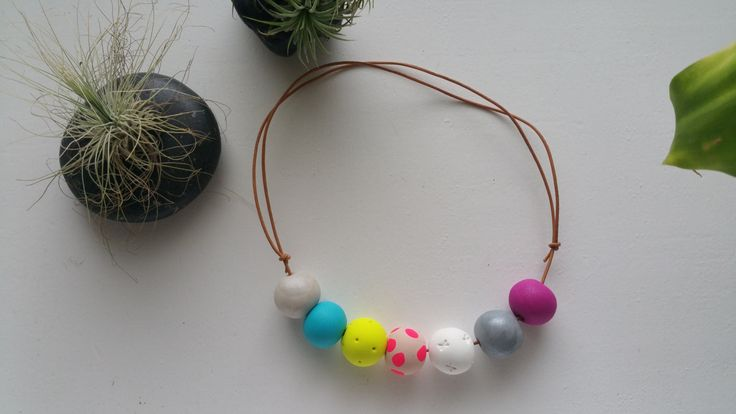 Polymer Clay Necklace - Eather by BowmanAndQueen on Etsy