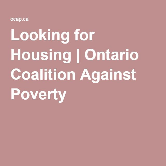 Looking for Housing   Ontario Coalition Against Poverty