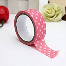 MECO Dekoband Gewebeband Basteln Masking Tape 3M DIY Scrapbook Geschenk Neu Rosa