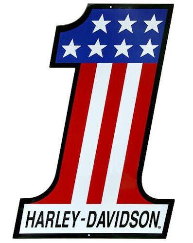 Harley Davidson Sign Number One Ande Rooney Signs