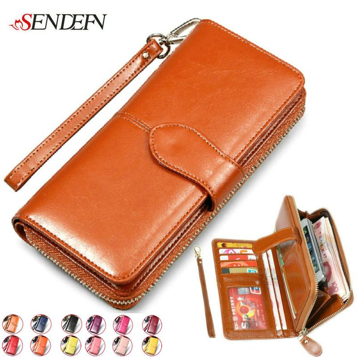 NEW 2014 Retro Oil Wax Cowhide Women's Wallet Designers Brand Business Card Holders Money Clip Genuine Leather Zipper Purses -  http://ow.ly/10mjkI