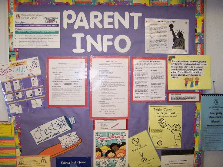 We need a Parent Info. board outside our Head Start office!
