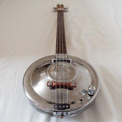 Hubcap Guitar - Wolseley, Ash Neck, Tele pup - Hubcap Slide Guitars M-32 seasick