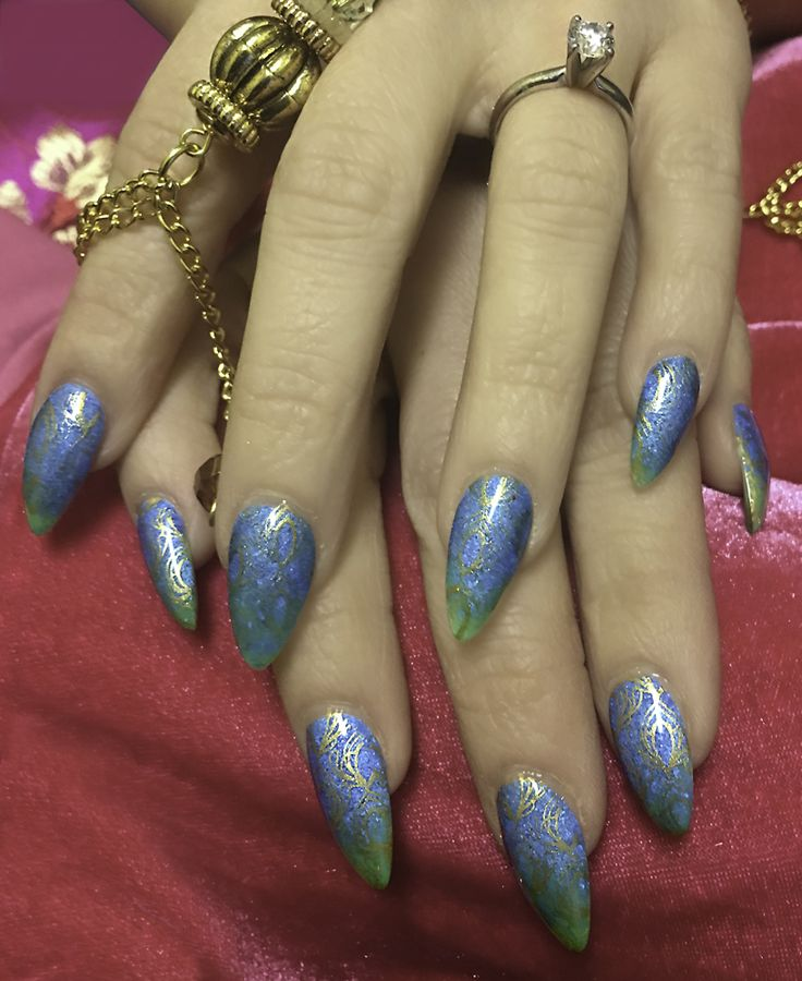 1000+ Ideas About Bright Blue Nails On Pinterest