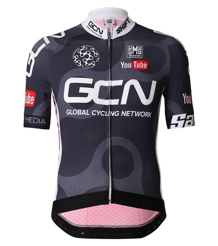 Santini's' Sleek GCN kit provides a contoured fit for supreme comfort and enhanced aerodynamics