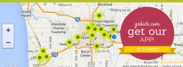 If You Only Do One Thing Today, Make Sure You Download Our New grkids.com App! It locates you on a map and shows you nearby events. Perfect for summer in and around Grand Rapids! | grkids.com