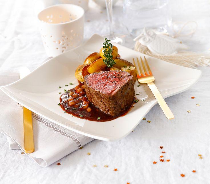 Die leicht säuerliche und schön fruchtige Sauce wird klassisch zu Thanksgiving serviert. Sie schmeckt aber auch zu unserem Filet köstlich.