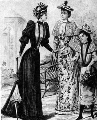 Женский костюм модерна
