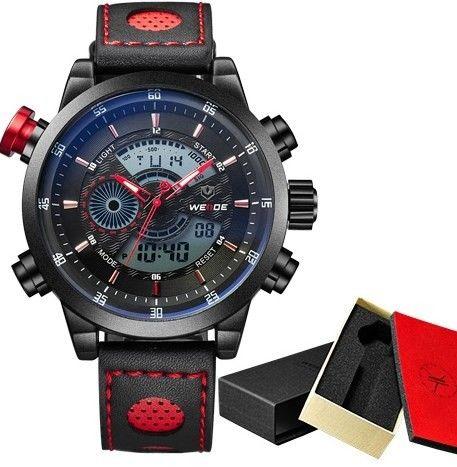 Značkové vodotěsné hodinky WEIDE vysoké kvality ČERVENÉ – dárky pro muže Na tento produkt se vztahuje nejen zajímavá sleva, ale také poštovné zdarma! Využij této výhodné nabídky a ušetři na poštovném, stejně jako to udělalo …